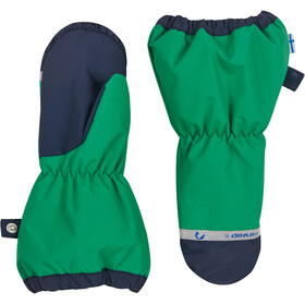 Finkid Pakkanen Outdoor Mittens with Snowcuff Kids, leaf/navy